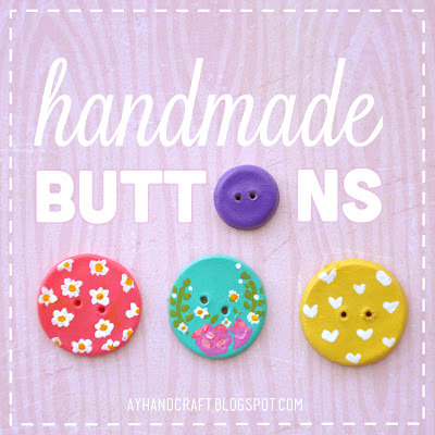 (via Made with love by Agus Y.: DIY: Handmade Buttons / Botones de porcelana)