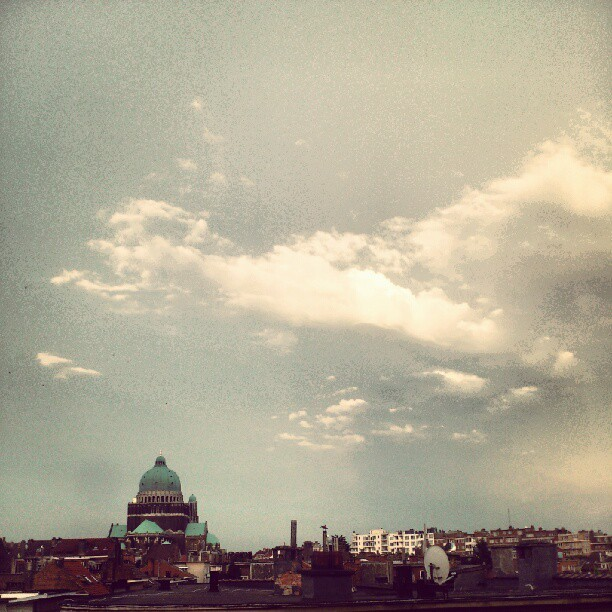#cloudporn  (Taken with Instagram at Basiliek van Koekelberg / Basilique de Koekelberg)