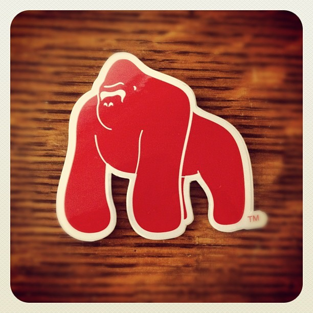 #webstagram #gorilla #gorillapestcontrol @antonio_g #sticker #red #losangeles (Taken with Instagram)