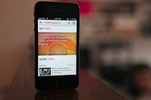 thisistheverge:  Google Chrome for iOS available now Download here