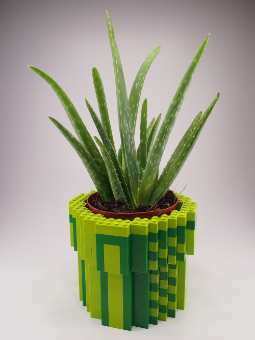8-Bit LEGO Warp Pipe Planter Created by H.Y. Leung