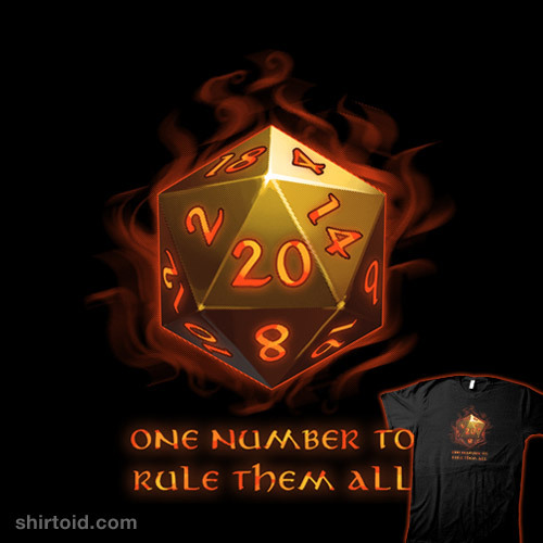 shirtoid:  One Number To Rule Them All available at Shirt.Woot