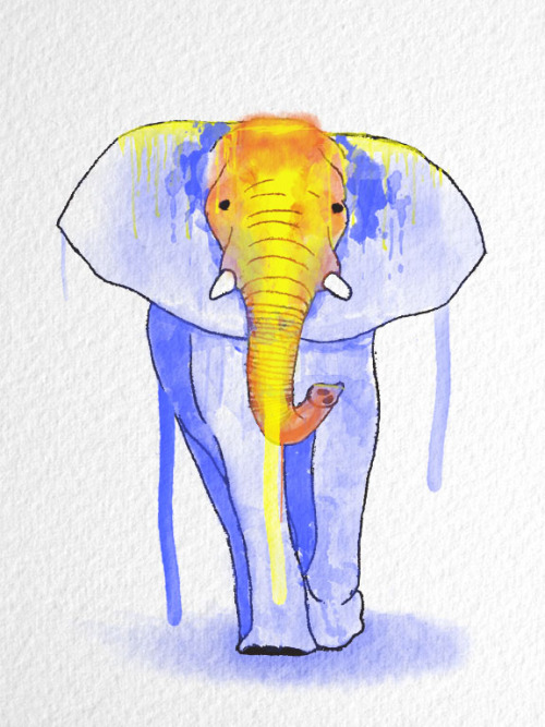 eatsleepdraw:  Elephant - Graphite and digital (Adobe Photoshop/Adobe Illustrator) more work at http://sketchvitamin.tumblr.com/