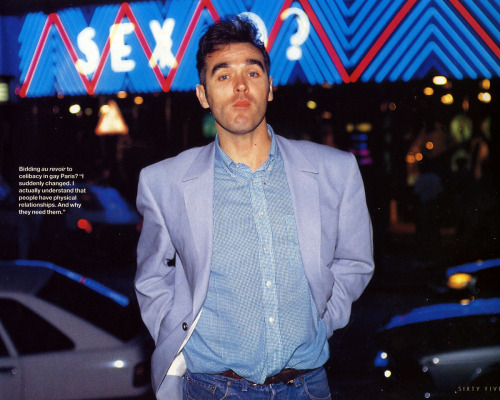 Morrissey, Q Magazine, 1992.  Photo: Hugo Dixon
