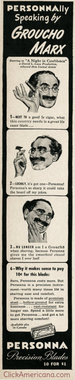 "PERSONNAlly speaking by Groucho Marx Starring in ""A Night in Casablanca,"" a David L Loew Production, released thru United Artists"
