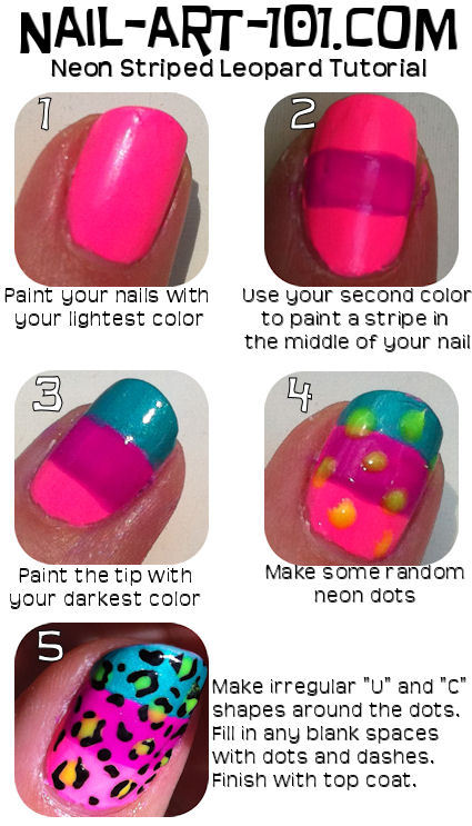 nail-art-101:  Put on some sunglasses before you do these nails.  They are briiiiiggghht!