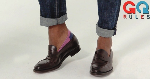 gqfashion:  GQ Rules: The Secret to Sockless Style