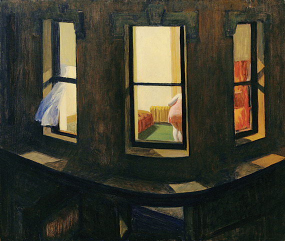 amysticvelvet:  Night Windows, 1928, Edward Hopper.