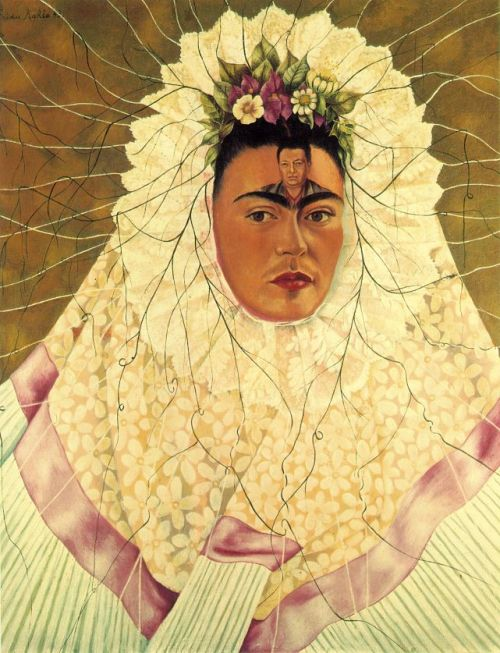 """Diego en mi Pensamiento/Diego in My Thoughts"", by Frida Kahlo (1943)"