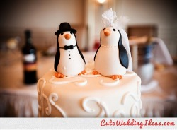 cuteweddingideas:  cake, love, married, penguin, wedding, wedding cake - inspiring picture on Favim.com Wedding Venues