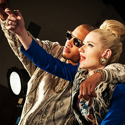 "Iggy and T.I on the set of ""Murda Bizness"""