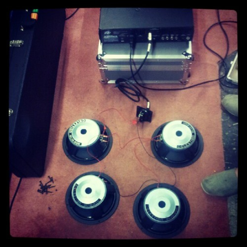 Late night speaker wiring.  (Taken with Instagram)