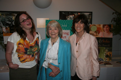 An oldie from our Flickr archives—Julie Powell, Knopf editor Judith Jones, and Nora Ephron from around the time of the Julie & Julia film release.