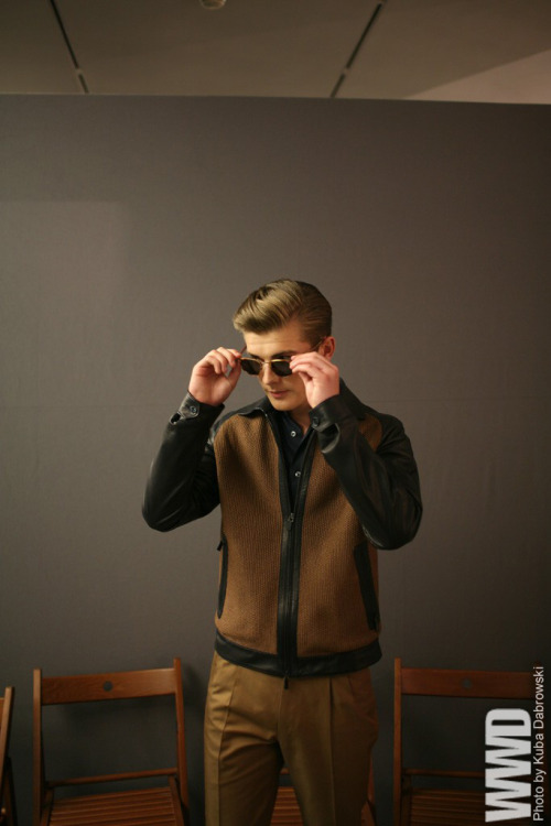Backstage at Ermenegildo Zegna  Men's RTW Spring 2013