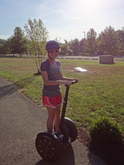 So over father's day weekend I had a brand new adventure: riding a segway. Now, for those of you who have never been on one, it's the scariest 6 mph ever!  That may not seem very fast, but it's pretty fast on one of those things.  Not only that, but when you're going down a hill and you reach the maximum speed, it tries to slow itself down…by pushing the handle towards your body and making you feel like you're going to fall backwards and dramatically conk your head on the sidewalk like they show a thousand times in the safety video.  But despite that, riding one made me kind of sort of want one.  Until I looked it up online and they cost like 7000$ each.  Sigh.