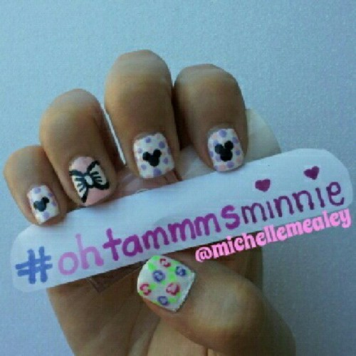 @ohtammm #ohtammmsminnie contest inspired by my #minniemouse #minnie #tumbler #disney #disneyland #disneyworld #nailswag #nailpolish #nailpolishpics #nailsdid #nailart #nailartcult #nailartofinstagram #nailpic #nailartclub #nailpolishaddicts #nailpictures #nailartdesign #nailjunkie #pink #purple #bownails #vintageroses #polkadots  (Taken with Instagram)