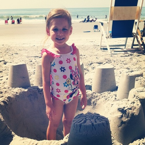 Pa's Sandcastle for Ava Hazel (Taken with Instagram)
