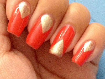 Rimmel nail polish - Sunset Orange OPI - Glitzerland