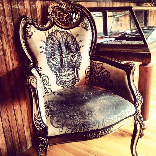 THE THOMAS HOOPER TATTOO PARLOR.  Chair by Scott Campbell.