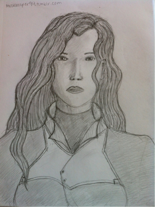 Asami sketch! This is how I picture her looking in real life. I have been working on it for a long time, and finally finished today :) And to think when her character first appeared in the show, I didn't like her. I now think she is strong and independent, and agood character. I hope for great things from her in season two.