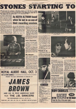 NME 16th Sept 1967 - Page one of article ( page 2 to follow)