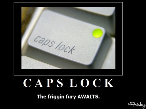 HAPPY INTERNATIONAL CAPS LOCK DAY - The Frisky