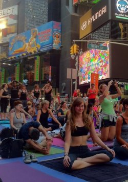 yoga in times square - 6/20/12