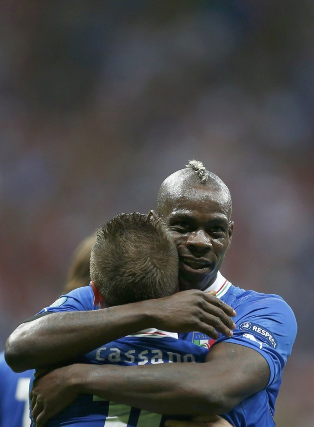 Mario Balotelli and Antonio Cassano
