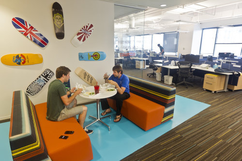 austinstatesman:  Three local companies put creativity in their spaces and their work Does your office have skateboards and snow globes on the wall or a replica of the 'National Lampoon's Vacation' car? We take a look at the offices of Austin-based companies WhaleShark Media, HomeAway and SpareFoot. How does yours compare? Photo: Ricardo B. Brazziell/American-Statesman