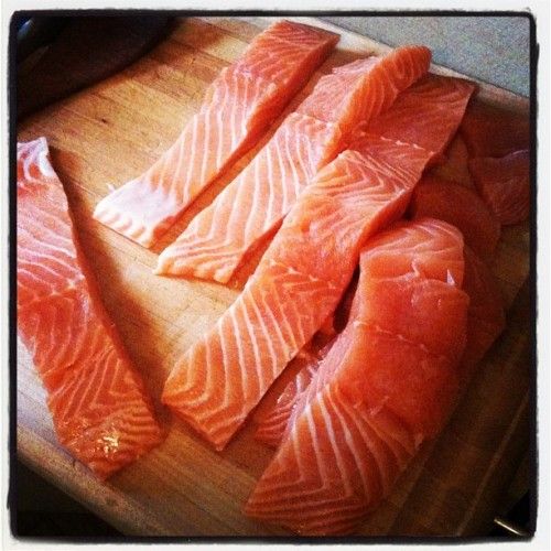 ilhaformosa:  #salmon #dinner (Taken with Instagram)