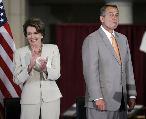 motherjones:  (via LA Times) Check out that mug on John Boehner! Caption contest time?