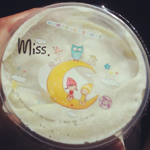 Juice bar always have the cutest seals #boba  (Taken with Instagram)