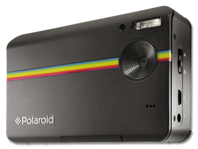 "Link: Polaroid Instant Digital Camera - 10 MP digital camera - Integrated printer with ZINK printer, producing full-colour 2x3-inch prints in under a minute- 3.0"" bright color LCD for viewing images - Compact size and usability - SD compatible for expanded memory, up to 32GB - Rechargeable lithium-ion battery"