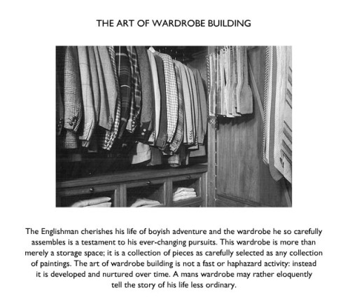 The Art of Wardrobe Building