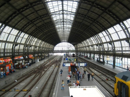 Amsterdam main train station public domain image picture in gallery Interiors and exteriors is in public domain.