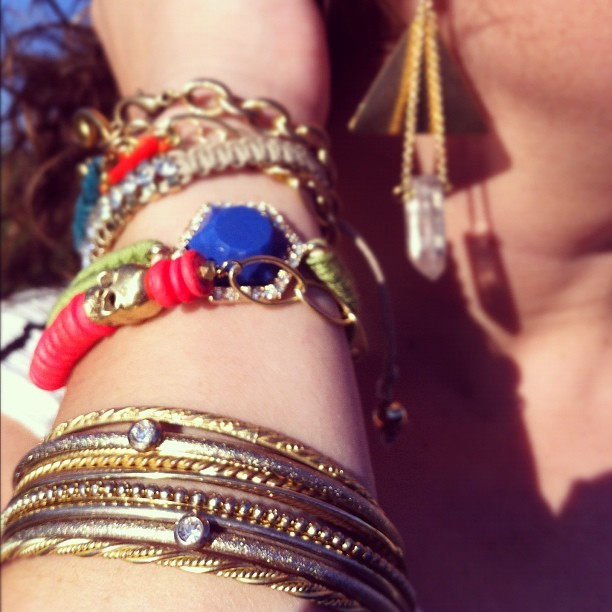 Wrapping up the arm party with @adjewelry for her #styleprofile! Thanks Anne! #cambridge  (Taken with Instagram)