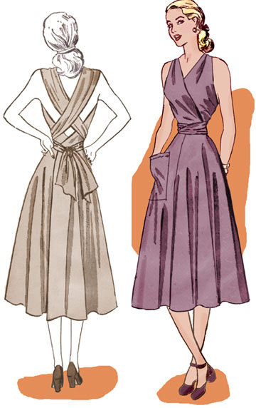 Dress pattern from 1948