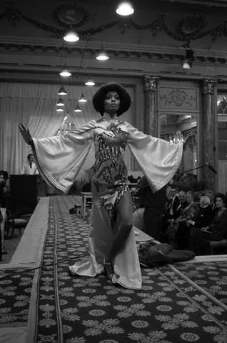 "Diana Ross owning the runway in ""Mahogany,"" 1975. Photo: Gianni Lami. Condé Nast Archive/Corbis"
