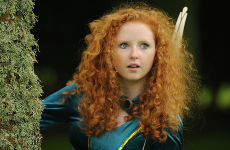 jdniemand:  usapotterfan:  Scotland's real-life Princess Merida from Disney Pixar blockbuster Brave With her curly red locks, huge blue eyes and pretty face, Caitlyn Boyd is our real-life Princess Merida. The 15-year-old schoolgirl is a dead ringer for the feisty heroine of Disney Pixar's blockbuster Brave. And flame-haired Caitlyn, of Brechin, in Angus, was crowned our little princess after winning the Sunday Mail's international search for a Merida lookalike.