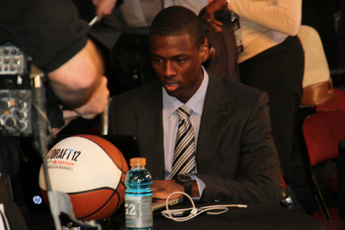 Harrison Barnes in the NBA Draft green room.