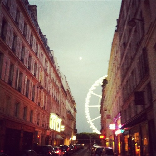 Paree at dusk … So smitten, when am I not!  (Taken with Instagram)