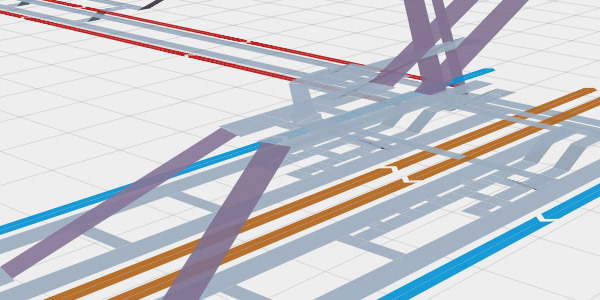 Station Maps: Browser-Based 3D Maps of the London Underground  Station Maps [aeracode.org] by programmer Andrew Godwin contains a large collection of browser-based (HTML5) 3D maps depicting different London Underground/DLR stations.