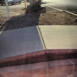 It's so hot in #AZ that our sidewalks buckle.  (Taken with Instagram)