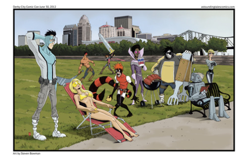 Limited edition print for Derby City Comic Con in Louisvile, Kentucky June 30 2012.