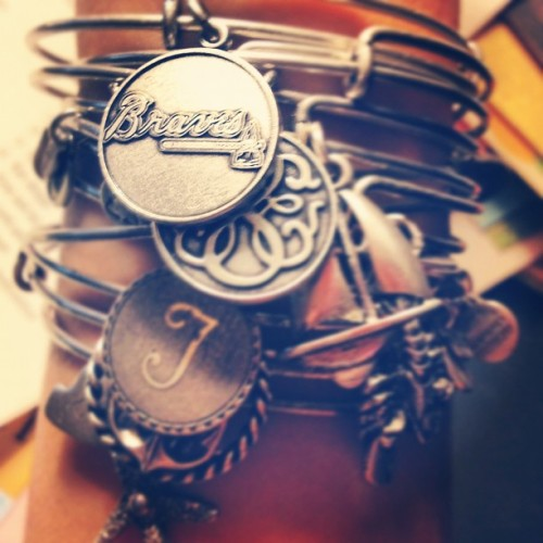 sperrysandseersucker:  Got the braves Alex and ani 😊😄😍 loving life #braves @alexandani (Taken with Instagram)