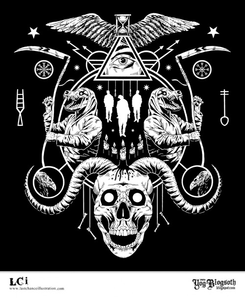New shirt design for Black Vulture Gallery.