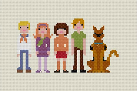 Pixel People by Jacqueline Gable The little cross stitch pieces are very affordable over at Etsy.