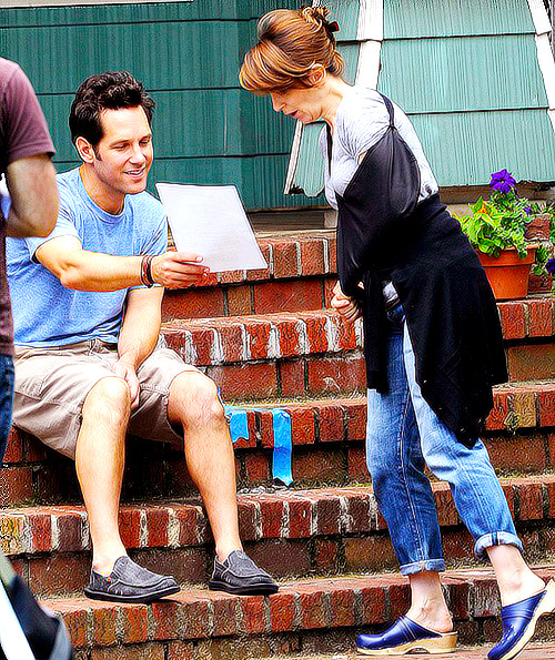Tina Fey and Paul Rudd film 'Admission' on June 28, 2012