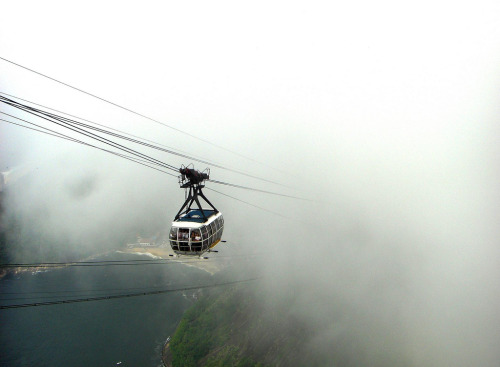 Cable car ascending from cloud (by Tim Fearn)