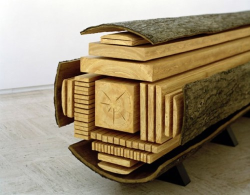 how a log is cut.